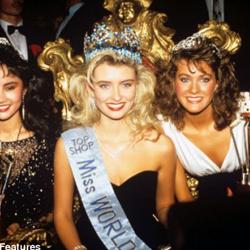 Linda Petursdottir Miss World 1988